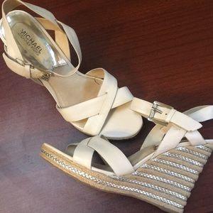 Michael Kors Wedge Sandals Size 10.5